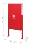 Self-standing hydrant box for above-ground hydrant (empty)