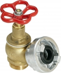 Brass valve D25 for hydrant systems