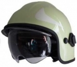 Emergency helmet Calisia type AK/10 including glasses - light green - golden shield