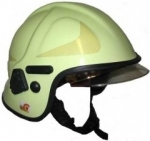 Emergency helmet Calisia type AK-06-09 clear shield EN 443:2008 - photoluminescent