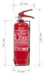 Portable fire extinguisher powder 2 kg P2 BETA-L