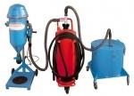 Mobile powder filling machine PFF-FLIPP-AIR-MATIC with hopper
