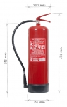Portable fire extinguisher powder 12 kg