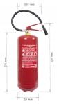 Portable fire extinguisher powder 9 kg
