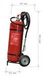Wheeled fire extinguisher powder 50 kg