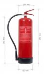 Portable fire extinguisher powder 12 kg fire classes D