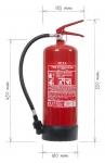 Portable fire extinguisher foam 6l - F6 BETA-W