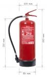 Portable fire extinguisher foam 9l -  F9 BETA-W