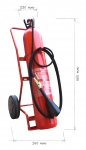 Mobile fire extinguisher CO2 30 kg