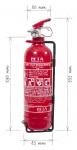 Portable fire extinguisher powder 1 kg - P1 BETA-Z
