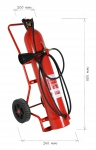 Wheeled fire extinguisher CO2 20 kg