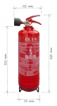 Portable fire extinguisher foam 2l
