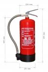 Portable fire extinguisher foam 6l - antifreeze