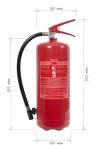 Portable fire extinguisher powder 6 kg P6 BETA Z fire class D