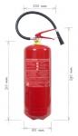 Portable fire extinguisher powder 9 kg - fire class D