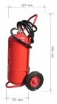 Wheeled fire extinguishers powder 50kg - fire class D