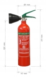 Portable fire extinguisher CO2 2kg - anti magnetic
