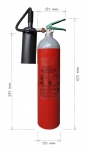 Portable fire extinguisher CO2 5kg - anti magnetic