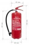 Portable fire extinguisher powder 6kg P6 BETA-ZH