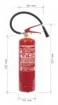 Powder fire extinguisher 4 kg - P4 Če