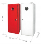 Metal cabinet for fire extinguisher 6 kg - white
