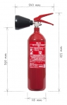 Portable fire extinguisher CO2 2 kg - CO2 BETA S