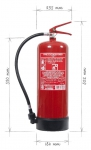 Portable fire extinguisher water 9l