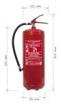 Portable fire extinguisher water V9 KT 9l