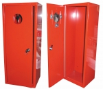 Metal cabinet for fire extinguisher 6 kg - red