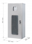 Metal cabinet for fire extinguisher 6 kg - stainless