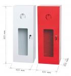 Metal cabinet for fire extinguisher 9/12 kg